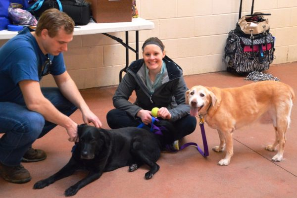 volunteers with sienna and duchess 2-22-14